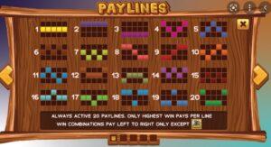 สัญลักษณ์ และ LINES ในเกมสล็อตกัปตัน เทรเชอร์ โปรเกรสซีฟ Captains Treasure Progressive